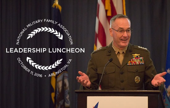 General Dunford Gets Personal—Focusing on Military Families, Including His Own—at 2016 NMFA Leadership Luncheon