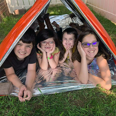 Campers in a tent400px