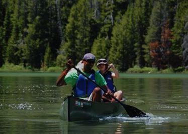 Canoe ride at an Operation Purple Family Retreat