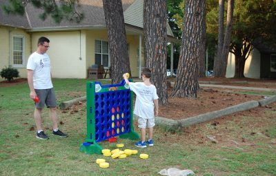 Buddy Camp giant connect four game