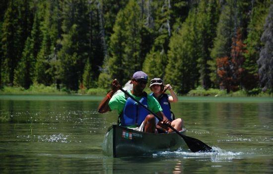 Fun in the canoe