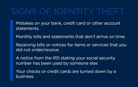5 PCS Identity Theft Tips