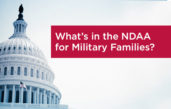 From Pay to Health Care, Here's What's In the New NDAA For Military Families